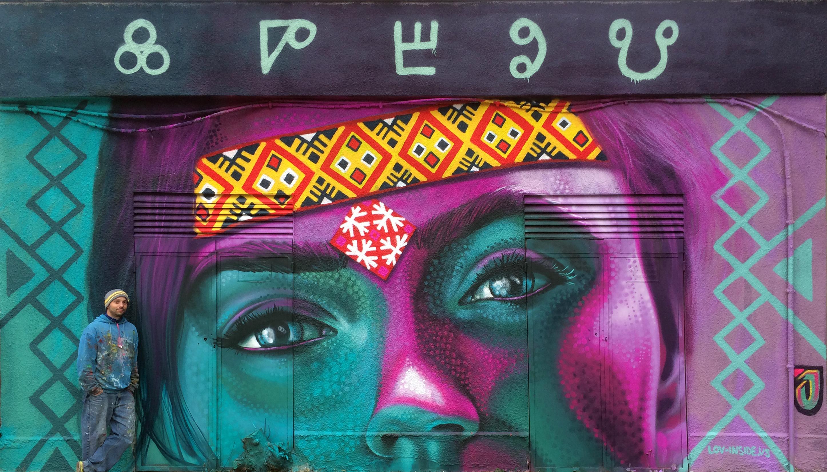 mural streetart Jahone