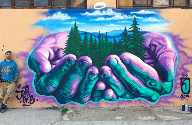Jahone mural street art