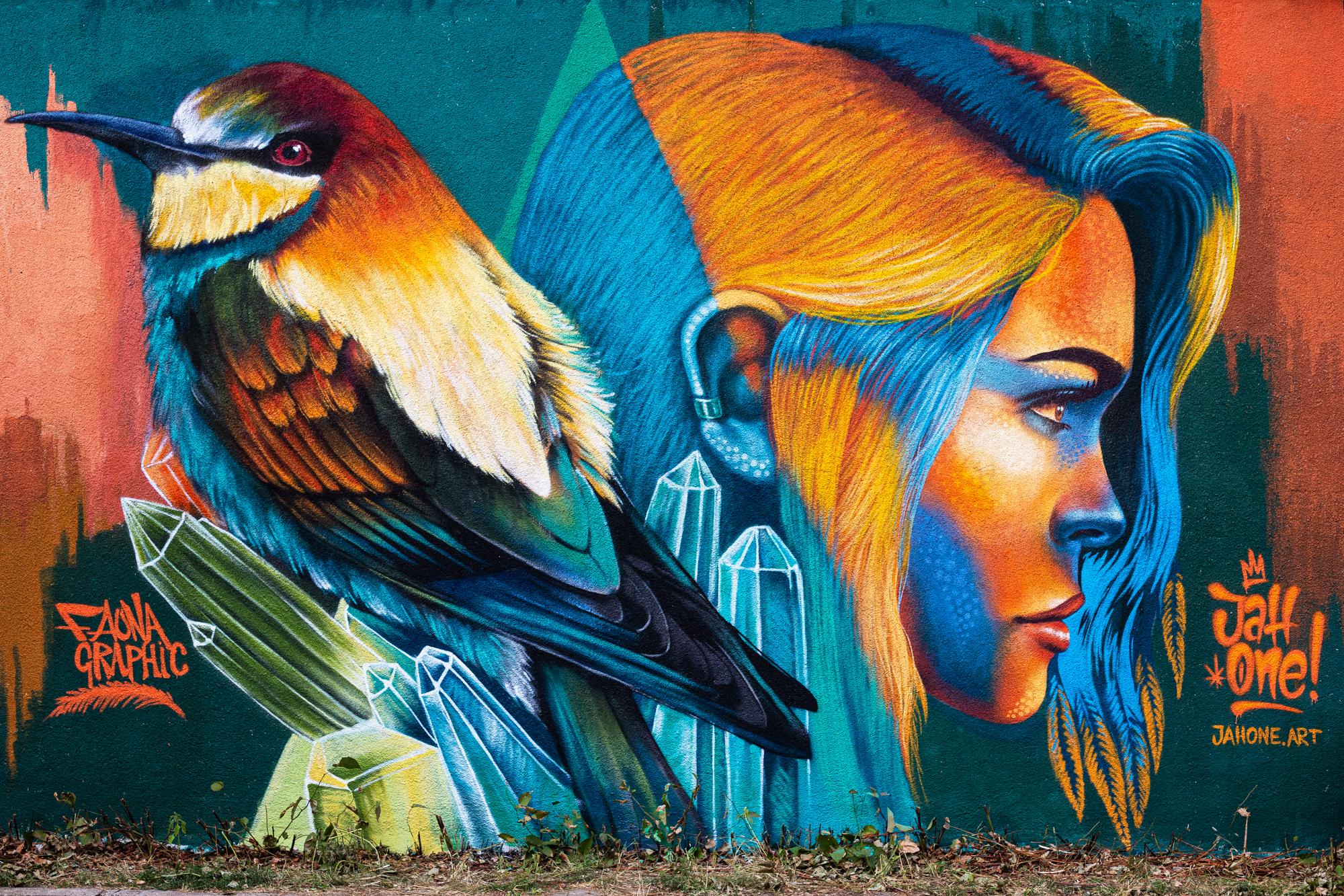 Street art mural graffiti jahone